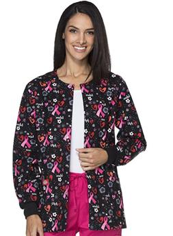 Dickies Womens Scrubs Snap Front Warm-up Jacket DK301 SGWI C