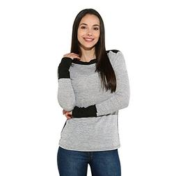iHHAPY Womens Sexy O Neck Fight Color Long Sleeve Jumper Com