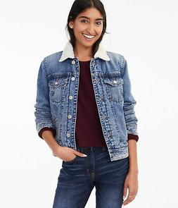 aeropostale womens sherpa-lined denim jacket