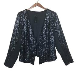 Womens Torrid Size 2 Black Sequin Mesh Jacket NWT 2X Plus