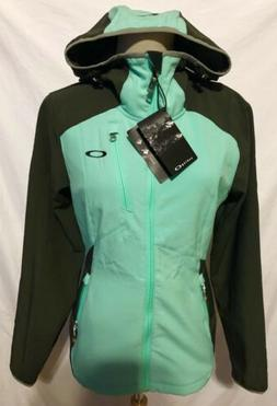 Oakley Womens Softshell Jacket Teal Gray Wind Resis Water Re