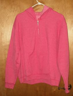 HANES Womens Sweat Jacket FULL ZIP UP HOODIE Soft Comfort Bl