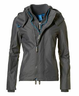 Womens Superdry Technical Hooded Pop Zip SD-Windcheater Jack