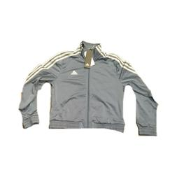 Womens Adidas Track Jacket Full Zip Small Essentials Gray