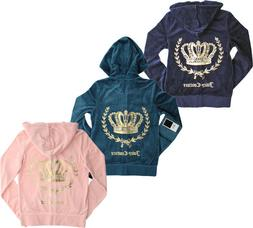 Juicy Couture Womens Track Velour Crowned Laurel Embellished