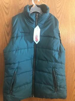Womens Free Country  Ultrafill Puffer Vest Jacket teal size