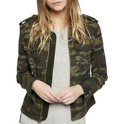 Sanctuary Womens War Is Over Green Fall Bomber Jacket Outerw