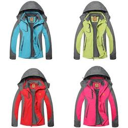 Womens Waterproof Hiking Jacket Coat Winter Ski Outdoor Spor