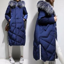 womens winter duck down long jacket thick