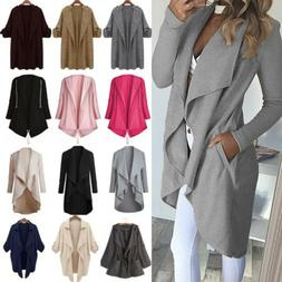 Womens Winter Trench Long Coat Duster Jacket Overcoat Waterf
